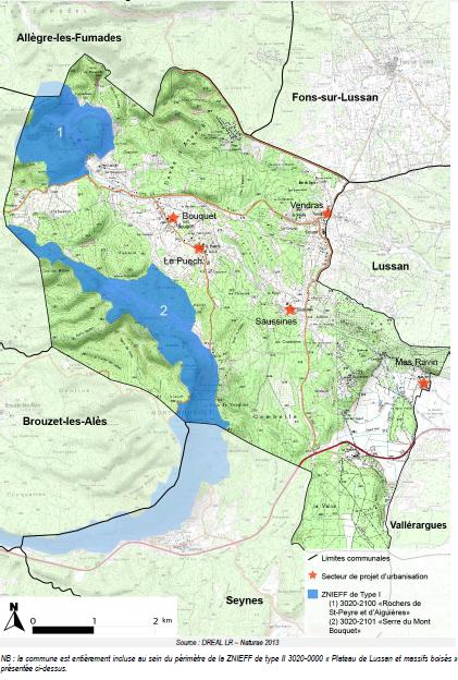 Carte des ZNIEFF